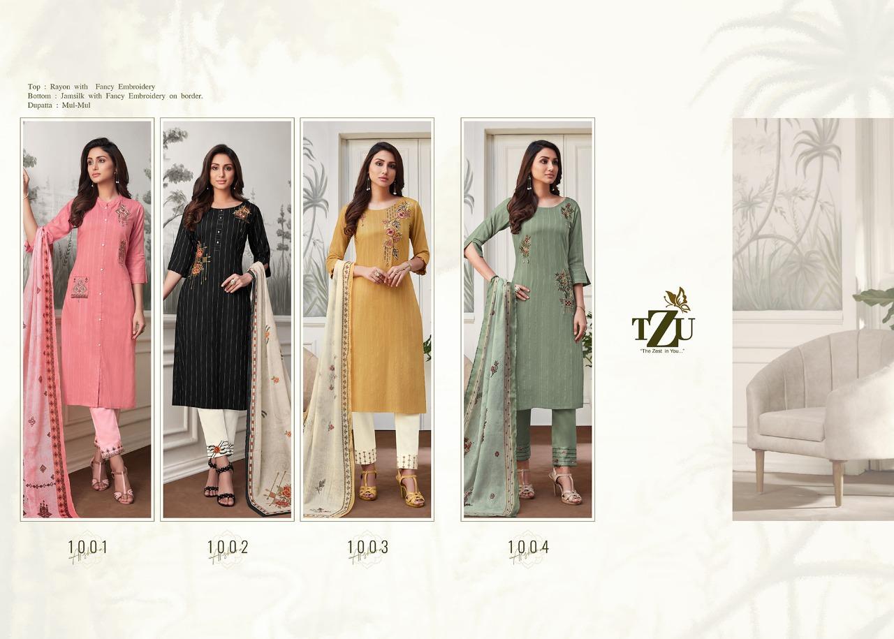 Tzu Akshara Exclusive Designer Top With Bottom And Dupatta Collection Supplier In Surat Parakh International